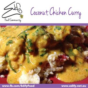 Coconut Chicken Curry (see Recipes) on Cauliflower Rice