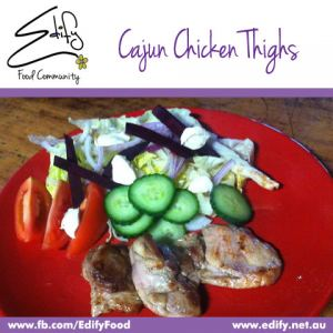 Cajun Spiced  Chicken with Cream Cheese Salad